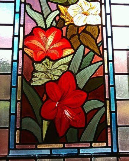 Stained Glass in Netherlea Staircase Window | Sarah Jarrett