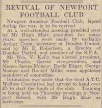 Revival of Newport Football Club 1945