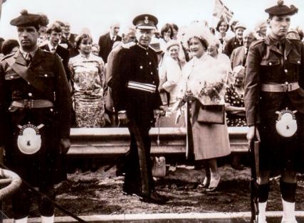 Queen Mother at Tay Bridge Opening 1966