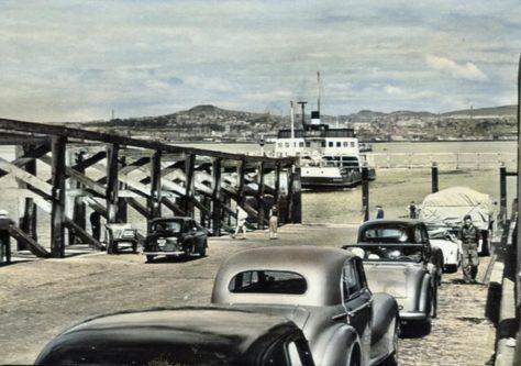 Car Queue on Pier 1960s