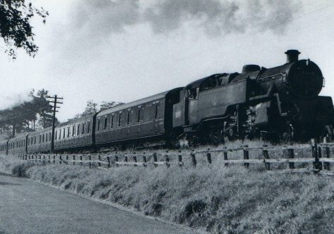 East Newport: Steam Train Above Craighead 1963