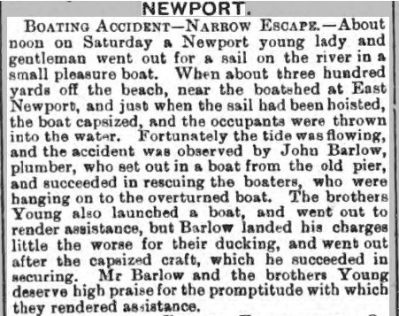 Boating Accident 1892