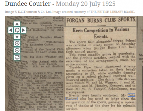 Forgan Burns Club 1920s