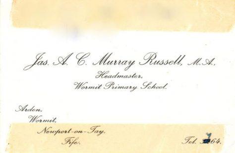 Murray Russell Wormit Headteacher
