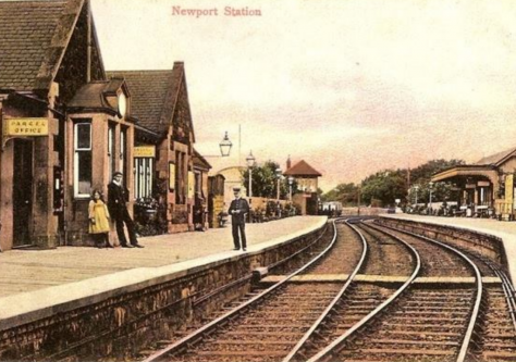 East Newport Station Open and Closed
