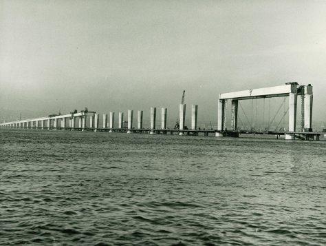 Tay Road Bridge Construction Mid-River