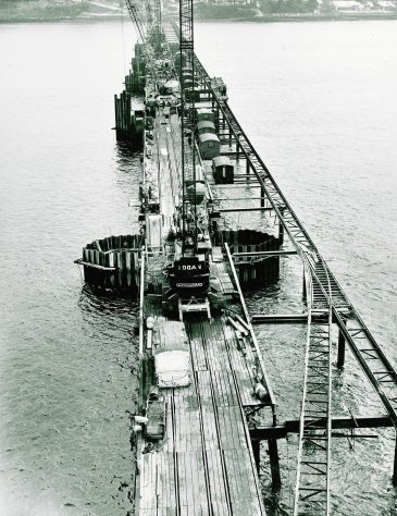 Tay Bridge Construction: Mid-River