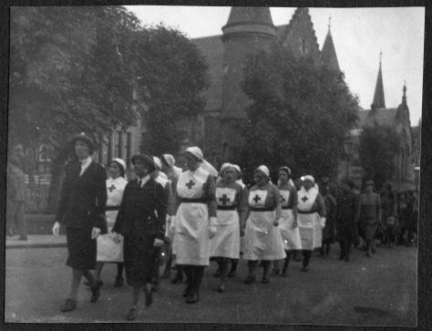 Nurses in Parade World War II