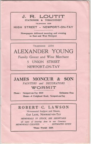 Advertisements for Shops and Businesses 1961