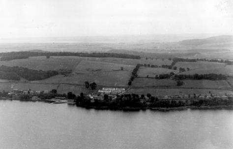 Aerial View of Woodhaven During World War II