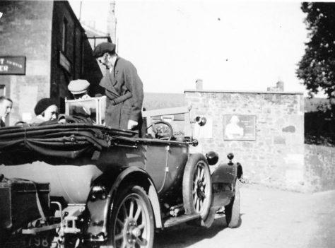 Car at Woodhaven Shop c. 1930