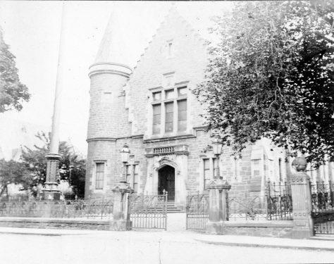 Blyth Hall and Flagpole c.1900