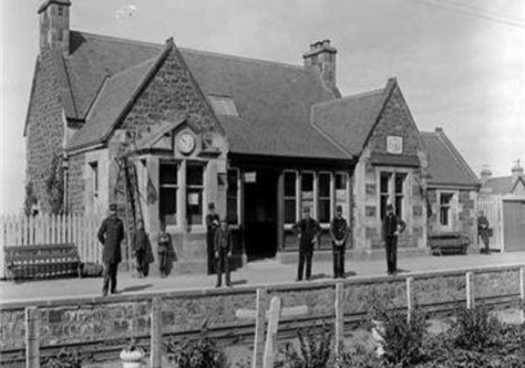 East Newport Station and Staff 1890s