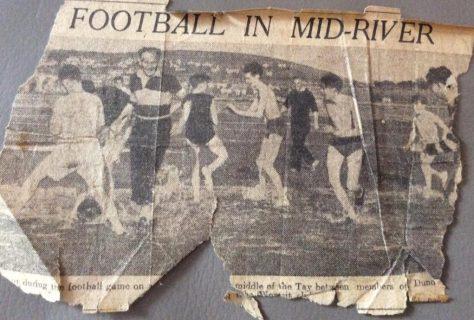 Memories of Football on the Sandbank