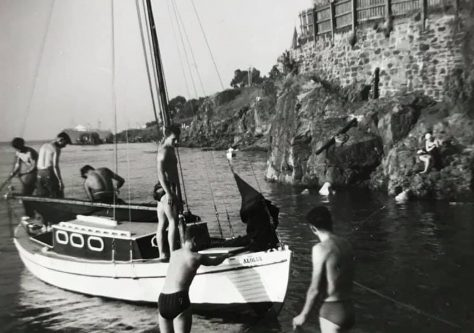 Launch of the Aeolus at Old Pier Early 1960s